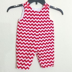 Size 3-6 mo Lolly Wolly Doodle Chevron Romper